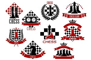 Emblems and icons of chess game