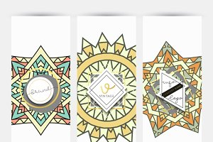 Flyer design geometric patterns