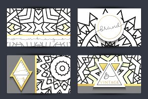Geometric design business cards