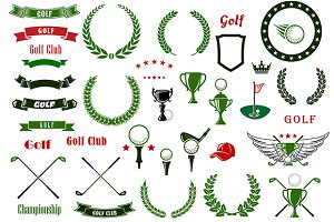 Golf and golfing sport elements