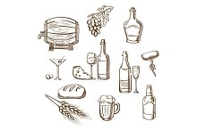 Alcohol drinks and beverages