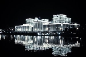 Moscow Architecture at Night