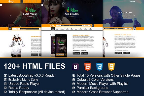 radio dj musician html template bootstrap