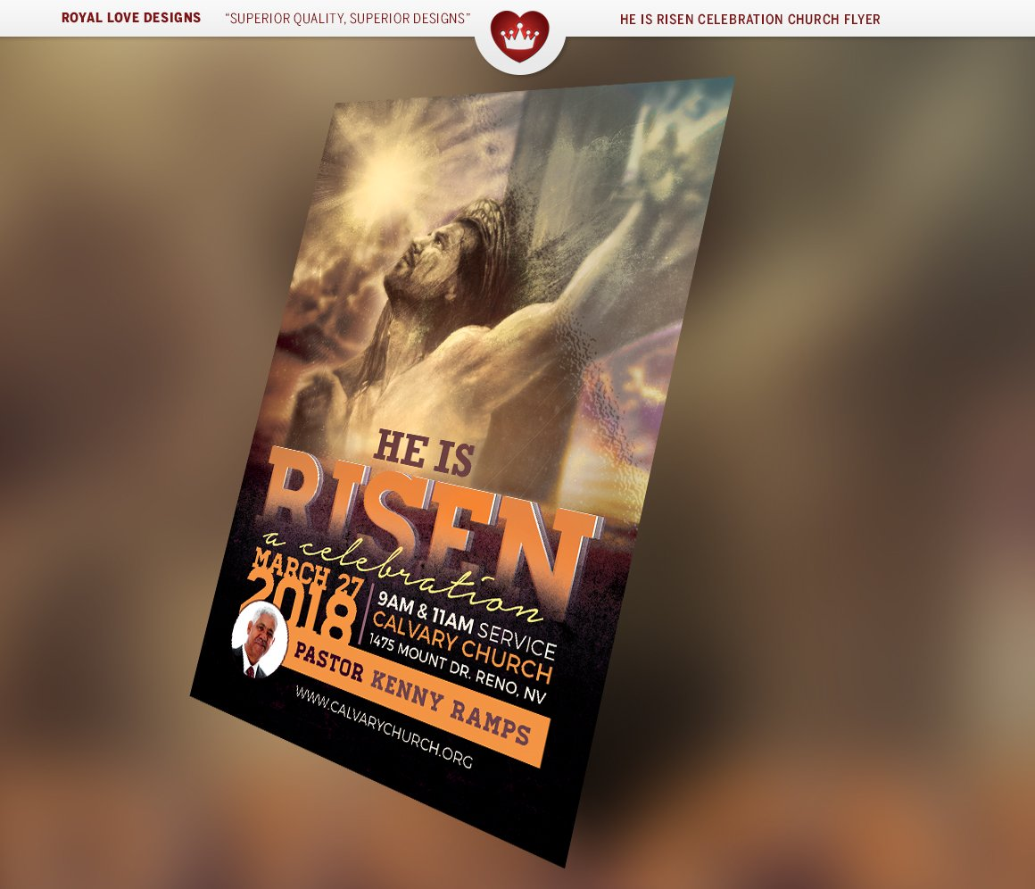 he is risen celebration church flyer flyer templates on creative he is risen celebration church flyer flyer templates on creative market