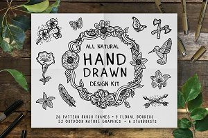 Hand Drawn Outdoor Nature Design Kit