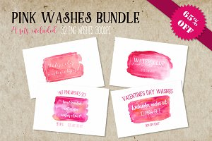 Pink washes bundle