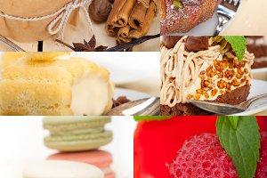 desserts cake collage