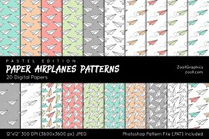 Paper Airplanes Digital Papers