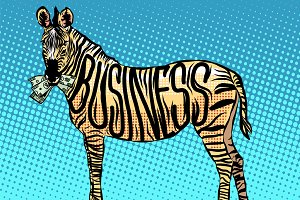 Business Zebra eats money