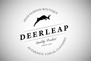 Vintage Logo with Deer