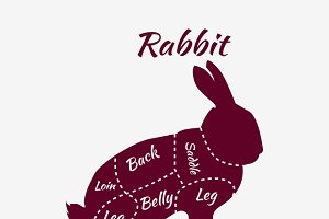 Rabbit Butcher Cuts Diagram