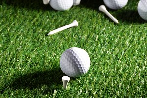 Sport objects related to golf