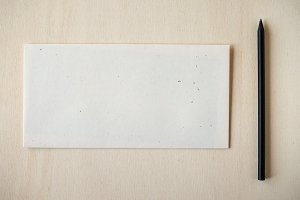 Letter envelope with pencil