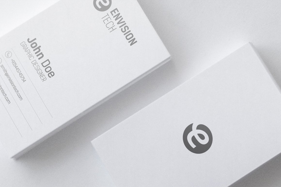 Clean Minimal Business Card Template ~ Business Card Templates ...