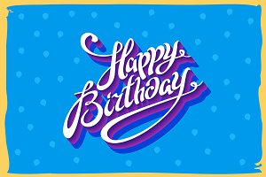 Vintage retro happy birthday card