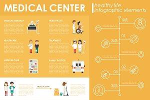 12 Medical Flat Infographics