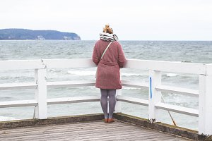 Girl by the seaside
