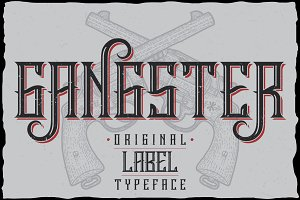 Gangster label typeface