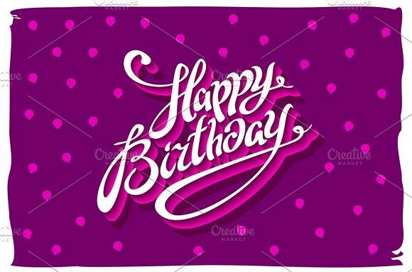 Vintage retro happy birthday card Graphics Creative Market – Vintage Happy Birthday Cards