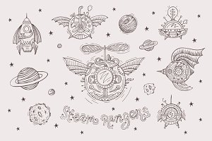 Steampunk spacecrafts