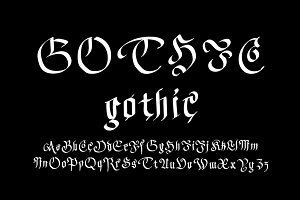 Modern Gothic Style Font.