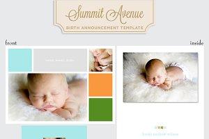 Color Block Birth Anouncment Boy