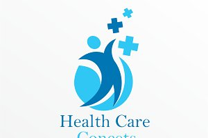Health Care Concets Logo Template