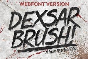 Dexsar Brush (Webfont)