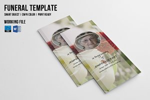 Trifold Funeral  Template-V441