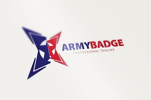 Army Badge - Military Soldier Logo
