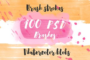 100Brushes!Handdrawn brushes for PSD