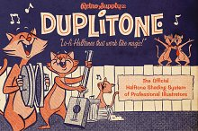DupliTone Halftones for Illustrator by  in Add-Ons
