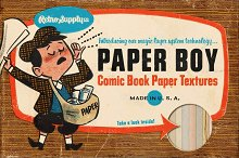 Paper Boy Procreate Comic Book Paper by  in Graphics