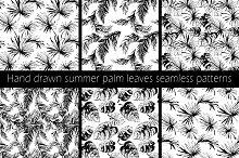 Seamless palm leaves pattern
