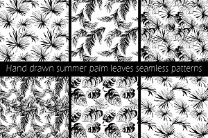 Seamless palm leaves pattern