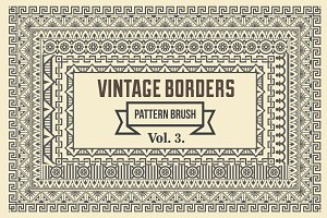 Vintage Borders Pattern Brushes 3