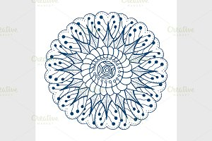blue floral ornament