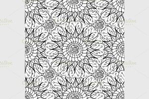 Black seamless pattern.