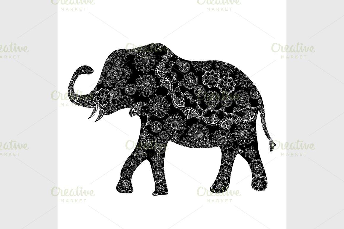 Black ethnic elephant. ~ Graphics ~ Creative Market
