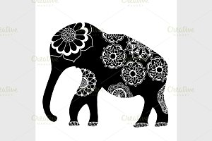 Black ethnic elephant.