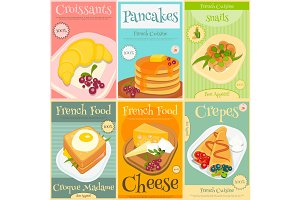French Food Mini Posters Set