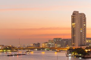 Bangkok evening and rivers