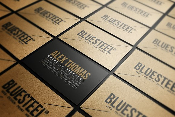 modern kraft paper business card business card templates creative market - Kraft Paper Business Cards
