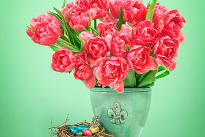 Tulip flowers Easter eggs 50%off