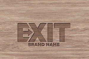 Exit logo design