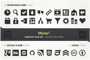 Mono2 – Webfont Icon Pack