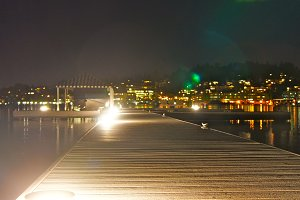 Night-time Dock Lighting