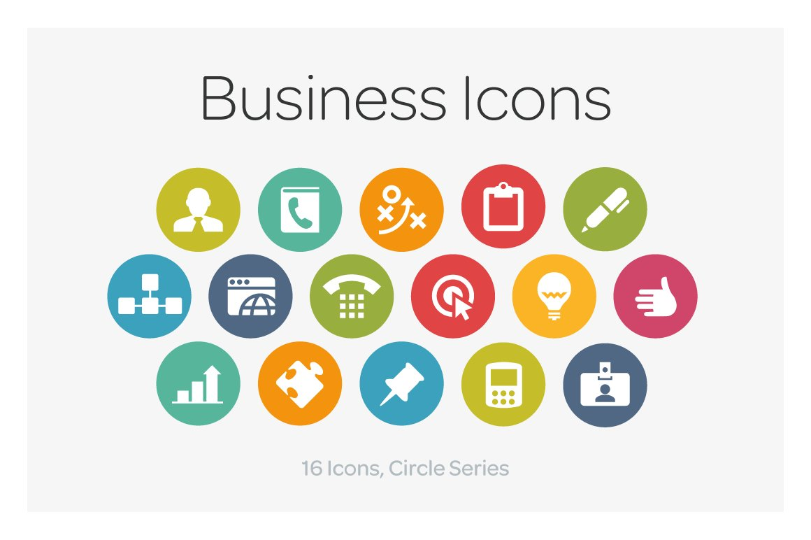 circle icons business icons creative market