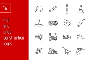 sixteen under construction icons