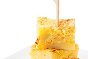 Spanish tortilla isolated